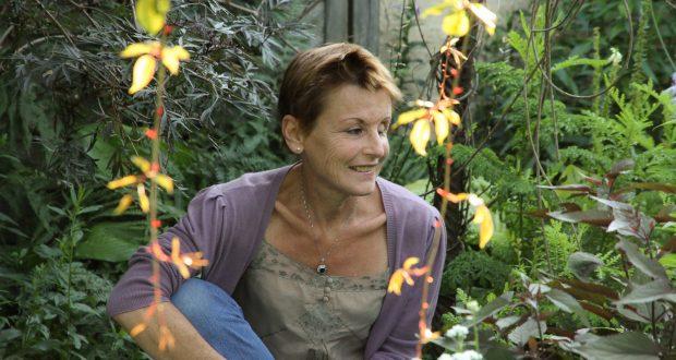 Geneviève Naudin, créatrice sur jardin su Liseron