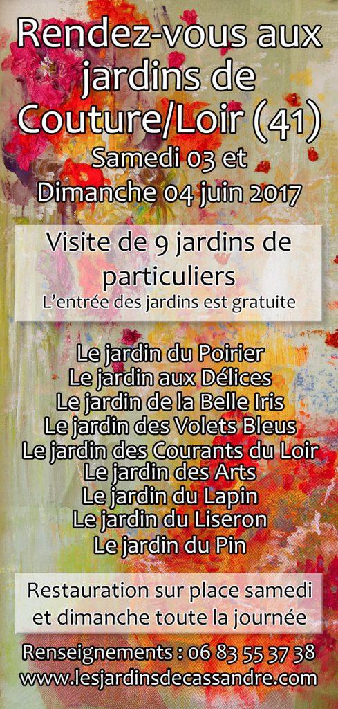 Rendez-vous aux jardins de Couture-sur-Loir : édition 2017 -